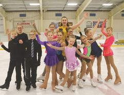 The Carman Skating Club is excited to be hosting the 2018 Central Regional STARSkate Competition this weekend. The local figure skaters pictured above will be representing the town on Saturday, Jan. 13 when the annual competition is held in Carman for the first time in nine years. Organizers are hoping to fill the Carman Arena with hometown crowds throughout the day. (EMILY DISTEFANO)