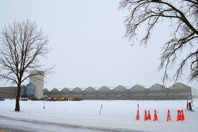 The greenhouse facility for the former Enniskillen Pepper Company is being refitted to accommodate marijuana production by British Columbia-based Tilray, which last August announced that it planned to spend as much as $30-million on the venture. Melissa Schilz/Postmedia Network
