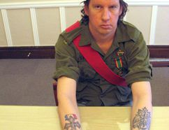 <p>Former Army Cadet Jeff Snider has had tattoo work done on his forearms, as he honours what will be the 100th anniversary of the end of the First World War. Photo on Tuesday, January 9, 2018, in Cornwall, Ont. </p><p> Todd Hambleton/Cornwall Standard-Freeholder/Postmedia Network