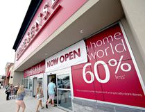 About 200 people were lined up outside the doors when HomeSense opened in Brantford, Ont., in August 2015. The company has confirmed it is looking at the North Bay market. Brian Thompson/Postmedia Network