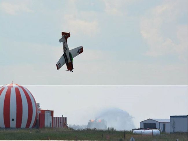 Bruce Evan's T-28B was nearly vertical when it slammed into the ground during a demonstration at the 2016 Cold Lake Air Show, a preliminary report from the Transportation Safety Board states.