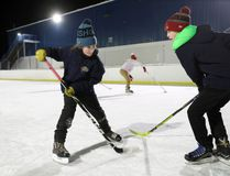 The outdoor skating rink in Stonewall was filled with plenty of youth as they took advantage of the mild weather Jan.8. (Brook Jones/Interlake Publishing/Postmedia Network)