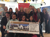 A group of 25 Fanshawe College employees won the $1-million top prize in the Dream Lottery Thursday. Lottery spokesperson Rita Feeder  says the group?s winning ticket was free.