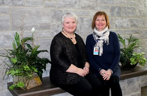 The Chatham-Kent Hospice is not resting on its laurels as the organization strives for continued excellence in providing excellent end-of-life care to local residents. Leading this effort are interim executive director Denise Dodman (left) and care manager Maureen Eyres.
