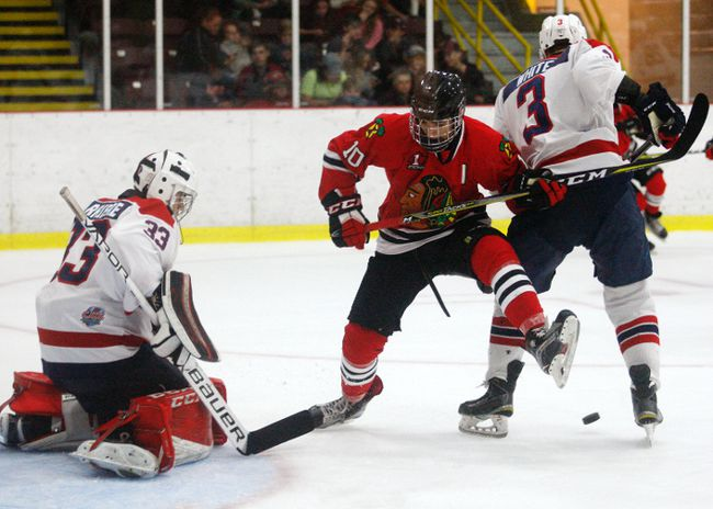 Eric Faith was traded by the Brockville Braves to the Kemptville 73s in October, but a deal right before the trade deadline Wednesday brought the 19-year-old back to Brockville. (File photo)