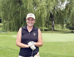 Pictured here is professional golfer, Robyn Doig, she leaves for Australia next week to compete.