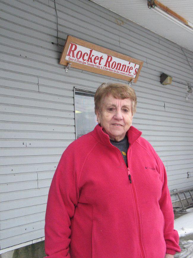 <p>Ronnie Rochefort, manager of Rocket Ronnie's restaurant, is glad there'll be streetlights soon at the State Road 37 and Frogtown Road intersection, part of a two-year project for streetlights across southern Akwesasne. Photo on Thursday, January 11, 2018, in Akwesasne, N.Y. </p><p>