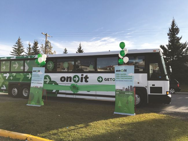 Photo courtesy of the Calgary Regional Partnership. The On-It Regional Transit two year pilot project was developed by the Calgary Regional Partnership for the municipalities of Okotoks, High River, Black Diamond and Turner Valley.