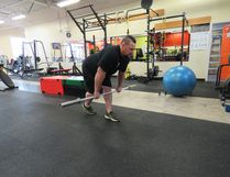Jan Murphy`s training this week included the kickstand Romanian dead lift.