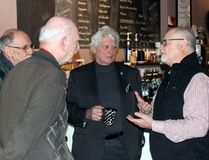 Sean Chase/Daily Observer Businessman and Conservative nomination candidate Mike Coates (right) speaks with (left to right) Mark Reilander, John Escott and Romeo Levasseur during a meet-and-greet held at Jana's Cafe in downtown Pembroke Sunday. Coates is challenging incumbent MP Cheryl Gallant, who has represented the riding of Renfrew-Nipissing-Pembroke for the past 18 years.
