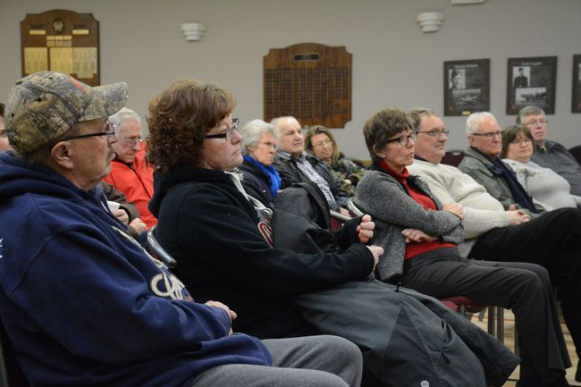 TD Canada Trust held a community information session at the Mayerthorpe Legion on Jan. 11 regarding the closure of the Mayerthorpe TD Bank, which will occur May 4 (Peter Shokeir | Mayerthorpe Freelancer).