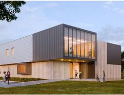 Exterior rendering of Academic Pavilion, Brescia University College (Courtesy of HDR)