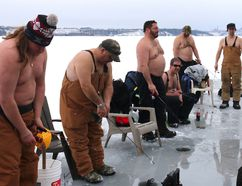 Intelligencer file photo The annual Merland Park Ice Fishing Derby returns to the shores of Merland Park on Feb. 9. The event raises funds for the Kiwanis Club Terrific Kids program in Prince Edward County.