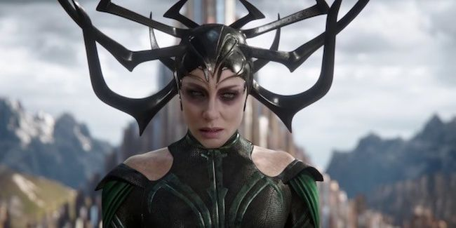 Cate Blanchett plays Hela in Thor: Ragnarok.