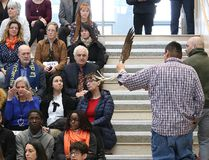 An Indigenous ceremony was held at the launch of Laurentian University's 2018-2023 strategic plan on Wednesday. (John Lappa/Sudbury Star)