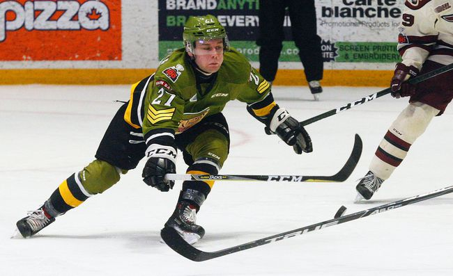 North Bay Battalion forward Adam McMaster has scored the first goal in the past two wins, part of a season-high five-game winnings streak heading into tonight's OHL match up against the visiting Sudbury Wolves at Memorial Gardens. Puck drop is 7 p.m. Dave Dale / The Nugget