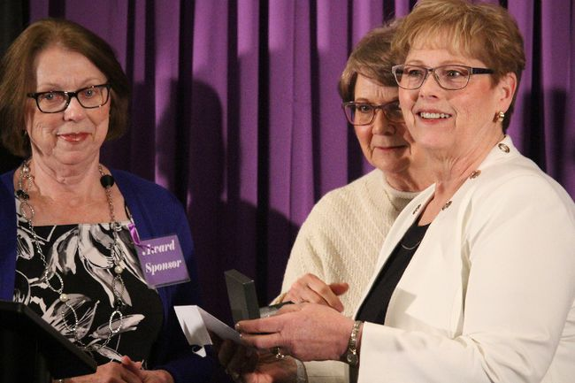 Wendy Rhodes won the 2017 Volunteerism award during Fort Saskatchewan's International Women's Day Award Gala. Nominations are now open for this year's event.