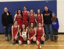 The Teulon Collegiate Institute Saints won the Carman JV girls basketball tournament in Carman Jan. 12 and 13. (Submitted Photo/TCI Saints Twitter)