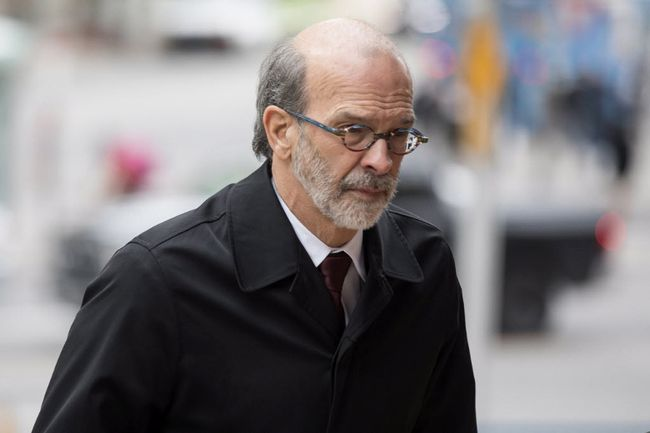 Former Dalton McGuinty Chief of Staff David Livingston arrives at a Toronto court on Oct. 27, 2017. Livingston was sentenced Wednesday to four months in jail for illegally deleting emails related to gas plants in Ontario. THE CANADIAN PRESS/Chris Young