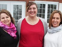 St. Clair Child and Youth Services' Virginia Allan, left, and Michelle Nelson, right, stand with Tanya Winter outside the mental health agency's Point Edward office. Winter is one of the panelists at the Feb. 1 Sarnia Speaks talk about early years mental health. Tyler Kula/Sarnia Observer/Postmedia Network