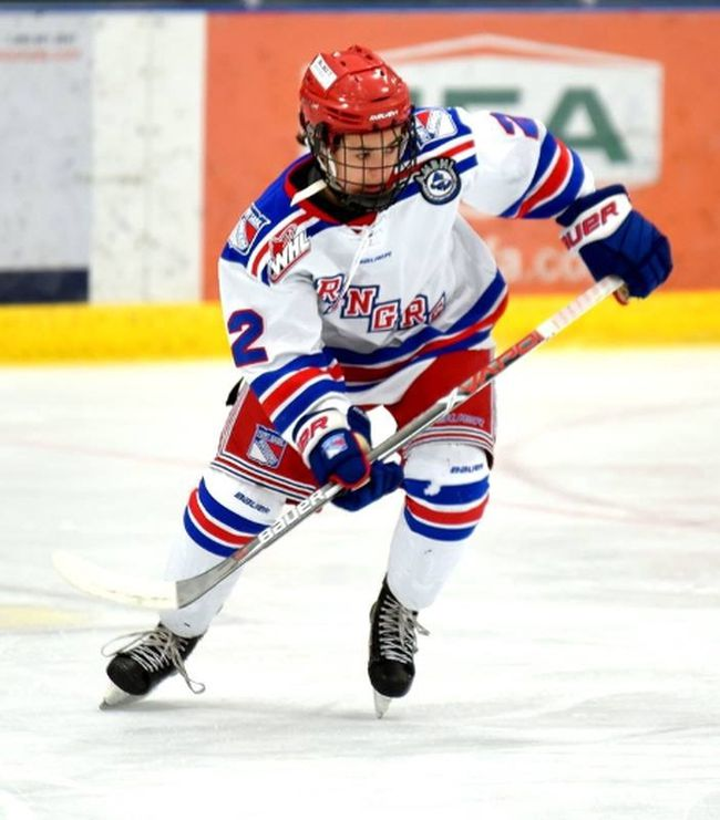 Fort Saskatchewan Bantam AAA Rangers forward Carter Spirig was able to put two pucks in the net during the Jan. 21 game against the Leduc Tarpon Oil Kings.