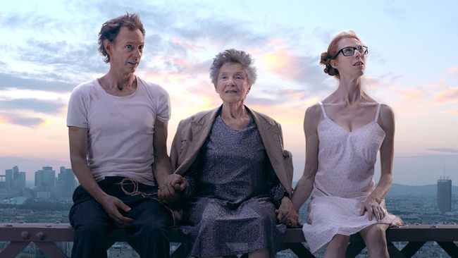 Dominique Abel (left), Emmanuelle Riva and Fiona Gordon in Lost in Paris, which will be screened Thursday night by the Brantford Film Group at the Galaxy Cinemas. (Arrow Films)