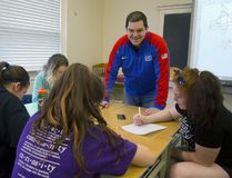 Jake Higgs, a math teacher at Arthur Voaden Secondary School in St. Thomas will be coaching the USA mixed doubles curling team in the upcoming Olympics in South Korea. (MIKE HENSEN, The London Free Press)