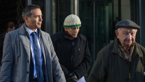 Ernest Doroszuk/Postmedia Network file photo Avi Benlolo, president and chief executive officer of Friends of Simon Wiesenthal Centre for Holocaust Studies, from left, and Holocaust survivors Max Eisen and Howard Chandler walk outside the office of Friends of Simon Wiesenthal Centre for Holocaust Studies (FSWC) in Toronto on Dec. 21, 2016. Holocaust survivors gathered to speak out against the horrific crimes being perpetrated on the people of Aleppo.