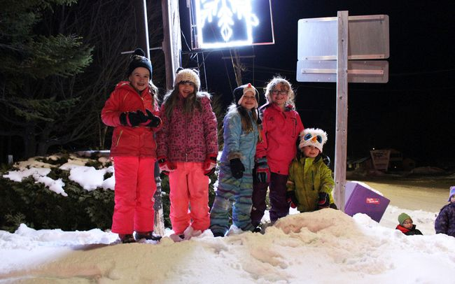 Sauble Beach kids had a blast playing in the snowbanks before the 2018 Winterfest parade in Sauble Beach, Jan. 19. Photo by Zoe Kessler/Wiarton Echo