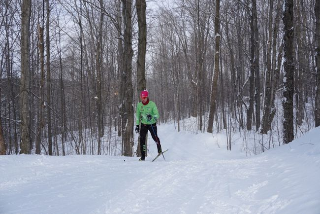 Julian Smith, of Oxenden, trained at the Sawmill Trails in Hepworth over the Christmas holidays, Dec. 27. Submitted photo