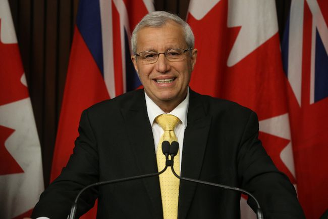 Ontario PC party leader Vic Fedeli speaks to the media at Queen's Park on Friday January 26, 2018. (Jack Boland, Postmedia Network)