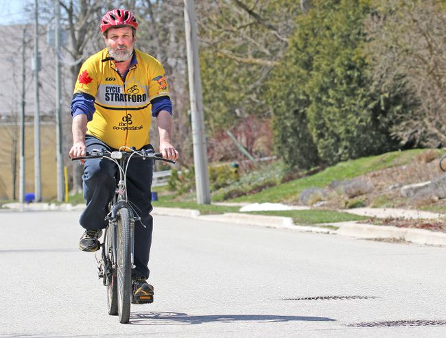 Cycle Stratford president Geoff Love is seen in this Beacon Herald file photo. He suggested a series of cycle-related recommendations to the city's infrastructure, transportation and safety subcommittee. Mike Beitz/Stratford Beacon Herald/Postmedia Network File Photo