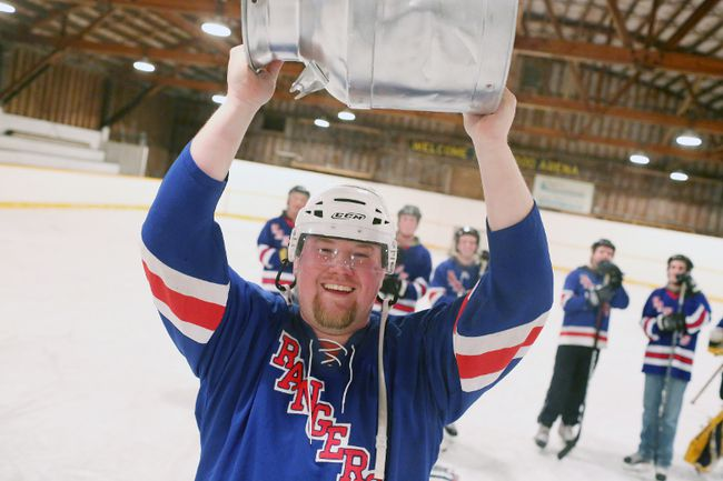 The Invaders claim the second annual Cream Can Cup hockey tournament at the Inwood Arena Jan. 27. (Brook Jones/Interlake Spectator/Postmedia Network)