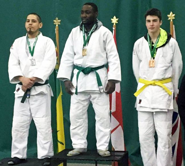 Portagers Wade Campbell (left) and Ethan Garrioch (right) with their medals after competing in Regina over the weekend. (supplied photo)