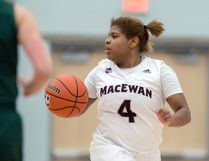 CHRIS PIGGOTT - MacEwan Griffins point guard Kristen Monfort-Palomino quit basketball during a bout with depression. Speaking out about her struggles helped put her on the right track to excel on the court once again.
