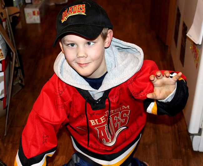Seven-year-old Ronny Betterley is being remembered for his love of hockey and positive attitude he maintained in the face of adversity while battling an inoperable brain tumour. He passed away on Monday, January 29, 2018 at his Mull, Ont. home surrounded by his family. (Handout/Chatham Daily News)