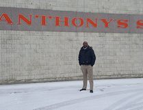 St. Anthony's Catholic Elementary School Vice Principal Papy Mukenge stands on the grounds of the St. Anthony's school lot where big changes are coming since the recent announcement of funding approval came from The Ministry of Education.