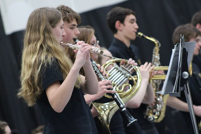 Stonewall Collegiate Institute hosted its Band and Choral Concert to a packed crowd Jan. 17. (Juliet Kadzviti/)