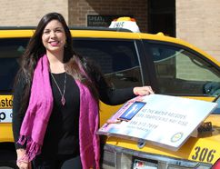 Melissa McGehee is the general manager of Yellow Cab, a Houston-based taxi company that partnered with the city to combat human trafficking by outfitting taxis with signs promoting the national human trafficking hotline and training drivers to spot the potential signs of the crime. (DALE CARRUTHERS/THE LONDON FREE PRESS)
