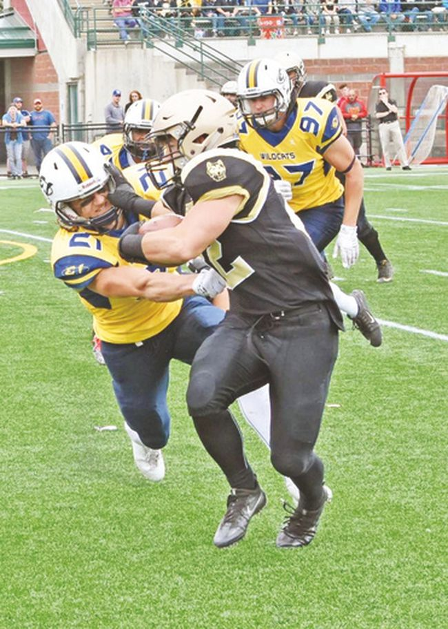 Submitted Jayden Dalke is headed into his last year of football with the Edmonton Wildcats. He hopes to make a varsity team and eventually the CFL.