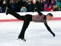 Canadian figure-skating legend Elvis Stojko performs Imagination on Ice with members of the Kingston figure-skating community on the Springer Market Square rink during Feb Fest in downtown Kingston on Saturday, Feb. 3, 2018. (Steph Crosier/The Whig-Standard/Postmedia Network)