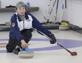The 6th Annual Curling Bonspiel was put on by the Lucknow District Co-op on Saturday Feb. 3, 2018 at the Ripley Curling Club. Curling teams came together for a one day tournament with the top teams scoring most points having first crack at the prize table. An entire day of curling for the participants that included a hot roast beef dinner and some other entertaining elements which made for another successful year and helps raise money to support curling clubs. Pictured: Focused on placement before the release as Team Gilkes participates for the top prize.