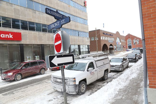 Jason Miller/The Intelligencer City officials says phase 3B of downtown revitalization will start next month with service upgrades on McAnnany Street.