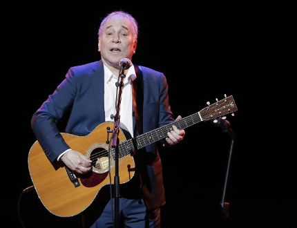 In a Sept. 22, 2016 file photo, musician Paul Simon performs during the Global Citizen Festival, in New York. Julie Jacobson / AP