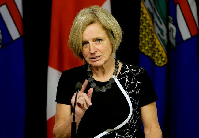 Premier Rachel Notley announces on Tuesday February 6, 2018 that Alberta will boycott all wine from British Columbia in response to the B.C. government's delay of the Trans Mountain pipeline expansion. Larry Wong/Postmedia Network