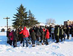 A vigil was held Tuesday February 6, 2018 at Gillies Lake for Joey Knapaysweet, the man who died after the shooting incident involving Timmins Police on Saturday. LEN GILLIS / Postmedia Network