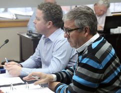 <p>Parks and recreation supervisor Jamie Fawthrop, and planning, development and recreation general manager Mark Boileau go through an extensive list of capital projects in the parks and rec budget on Monday February 5, 2018 in Cornwall, Ont.</p><p> Alan S. Hale/Cornwall Standard-Freeholder/Postmedia Network