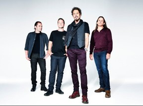 Big Wreck, from left, Chuck Keeping (drums), Dave McMillan (bass), Ian Thornley (lead vocals, guitar) and Brian Doherty (guitar) are at London Music Hall Friday. (Special to Postmedia News)