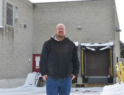 Barry Wick stands behind the old Sobeys on Queensland Road in Stratford, a location in which some of the city's homeless have been known to spend the night in tents. At the city's Feb. 14 social service's subcommittee, Wick will speak about his efforts to establish a homeless shelter in Stratford. (Galen Simmons/The Beacon Herald)