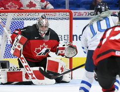 Shannon Szabados is ready to defend Team Canada in between the pipes during her third Olympics. Photo credit: Matt Zambonin/HHOF-IIHF Images